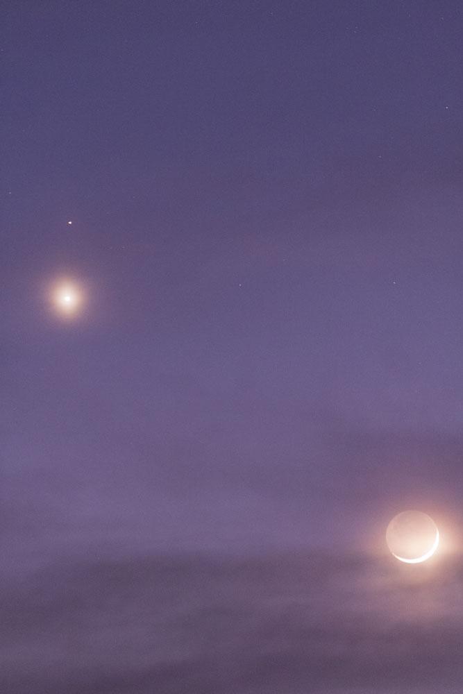 Rapprochement Lune, Venus et Mars du 20/02 150220-18h45-Lune-Menus-Mars